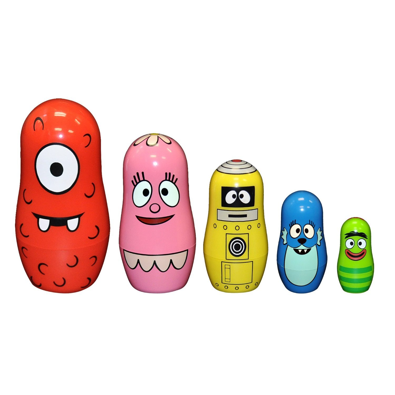 amazon com ppw yo gabba gabba nesting dolls toys u0026 games