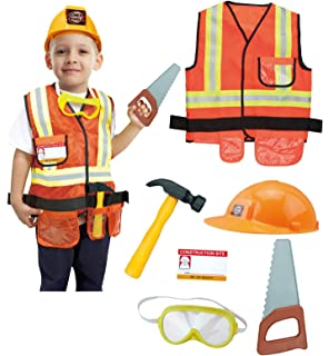 amazon com little tikes construction worker costume 3 4t toys games