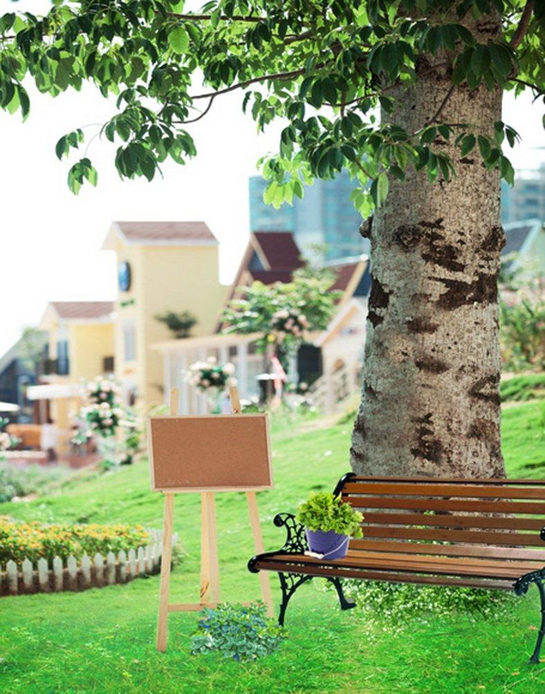 Lawnツリー椅子写真Backdrops写真小道具Studio背景5 x 7ft   B01I8S4RVS
