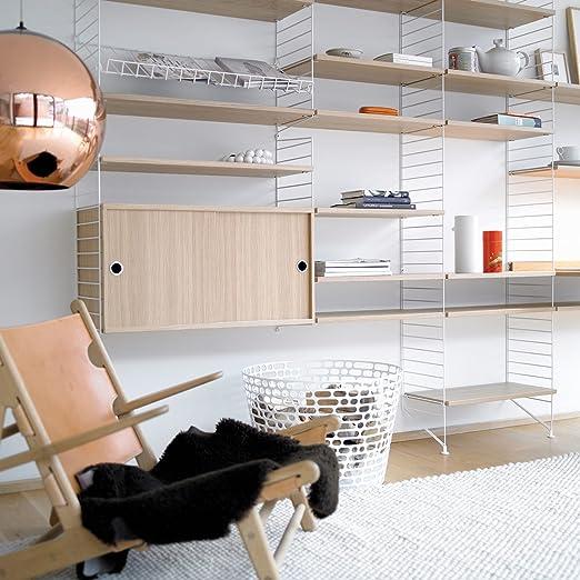 String estante 58 x 20 cm 3 Unidades, roble