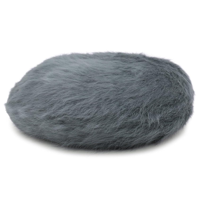 Amazon | 程よい大人可愛さ ふんわり冬コーデの引立て役になるモヘア帽子 ベーシックアンゴラベレー帽 灰2 | ベレー帽 通販