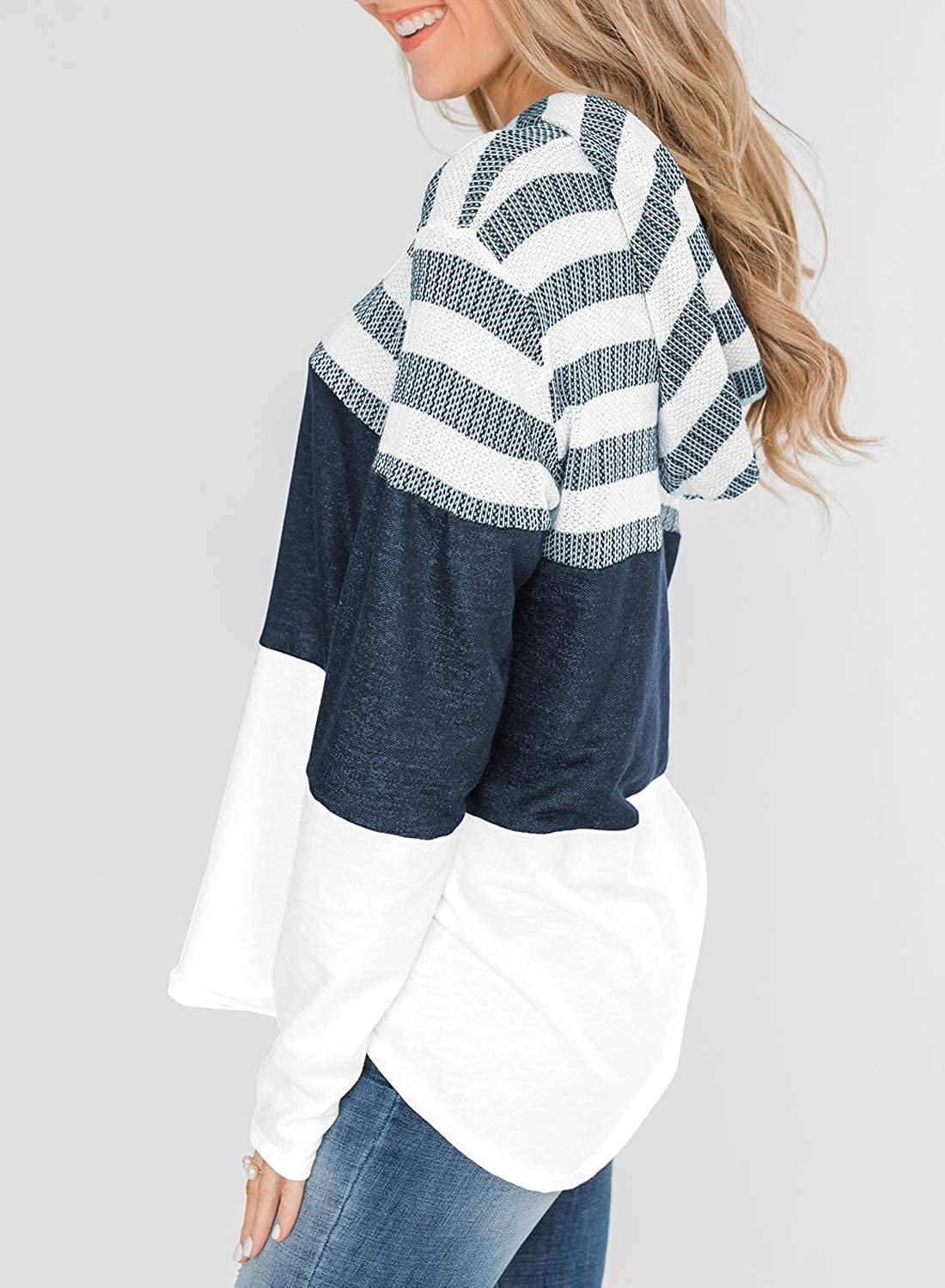 Hawiton Gilet Femme Tricot Cardigan Long Manches Longues Casual Printemps Automne