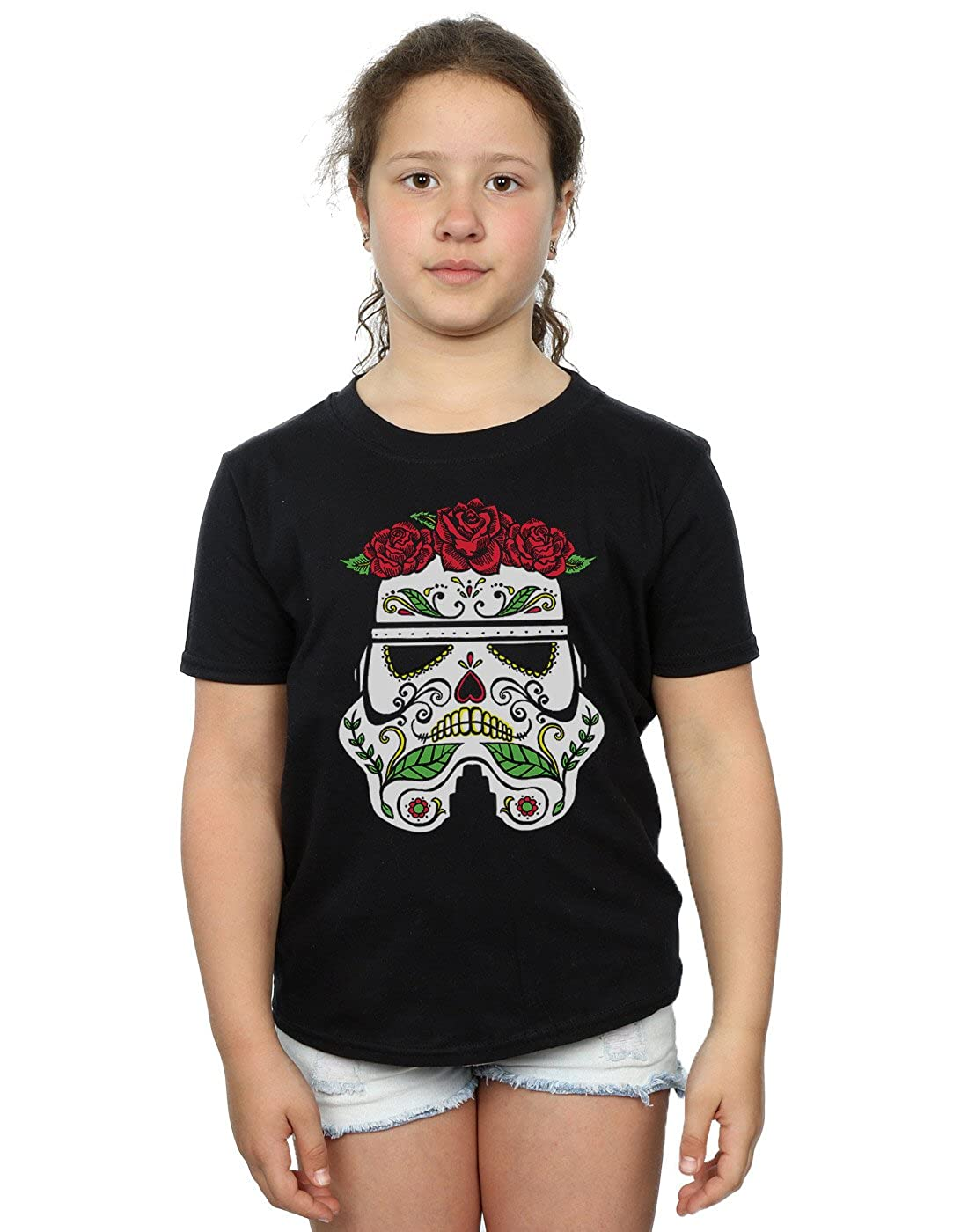 Girls Official Star Wars Stormtrooper Short Sleeve Black T-Shirt  Free P+P