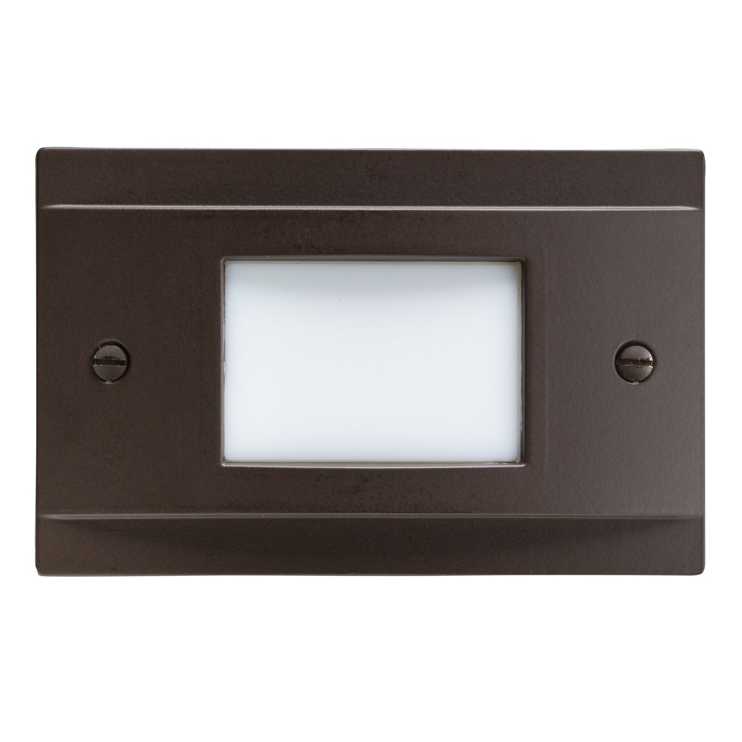 Kichler 12665AZ Step and Hall 120V LED Step Light Non-Dimmable, Architectural Bronze