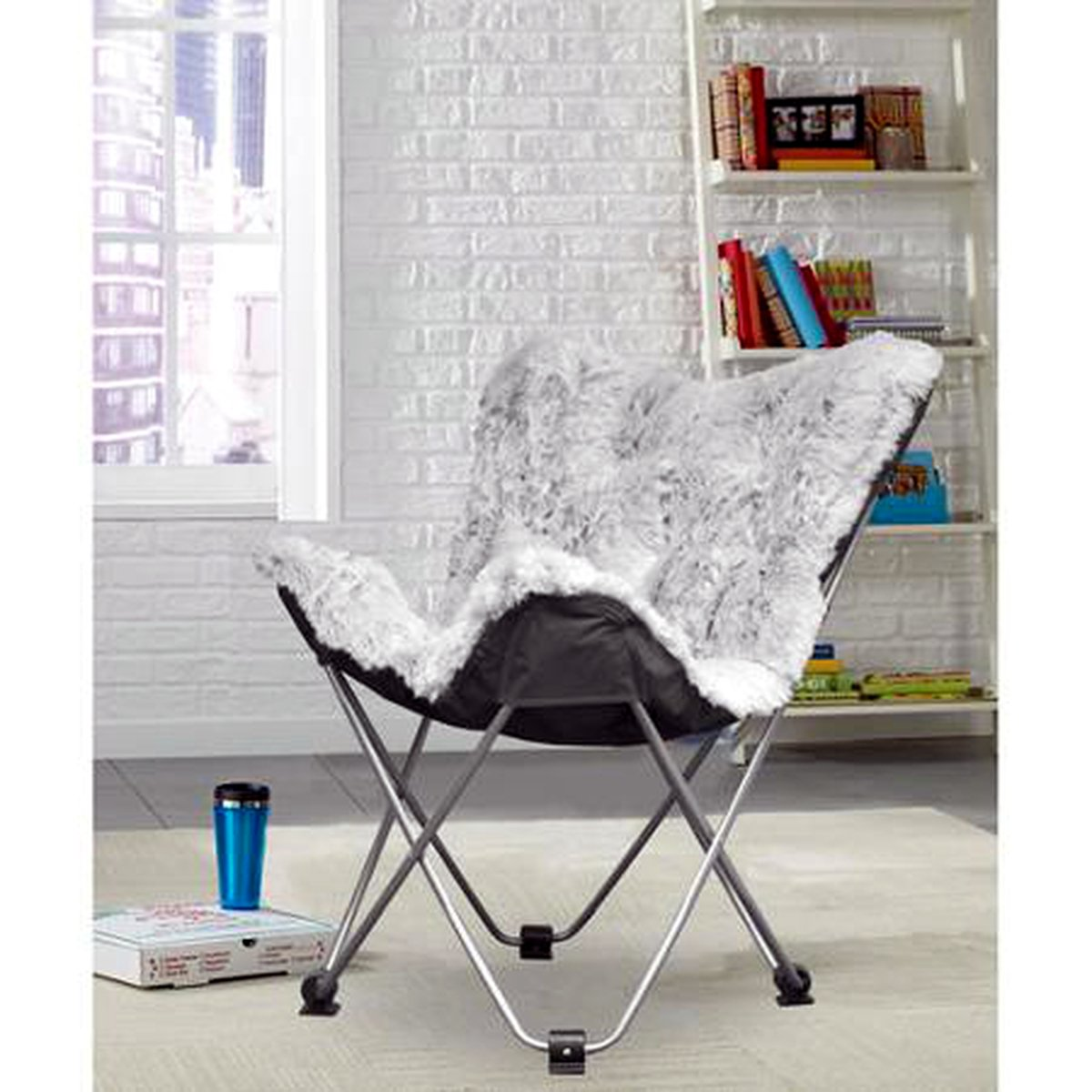 Attirant Amazon.com: Butterfly Folding Chair In Faux Fur Or Vegan Leather. Portable  For Sports, Adults U0026 Childrens Rooms, Tailgate Parties, Even Camping ...