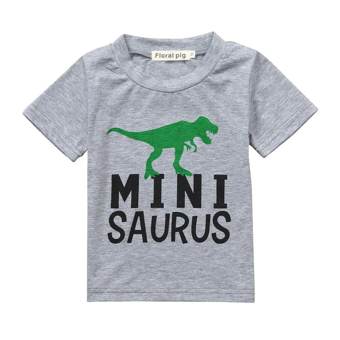 Baby T-Shirt, for 0-3 Years Old Cute Baby Boys Infant Toddler Kid Letter Dinosuar Print T-Shirt Tops Tshirts Tee Summer Clothes ClodeEU-02