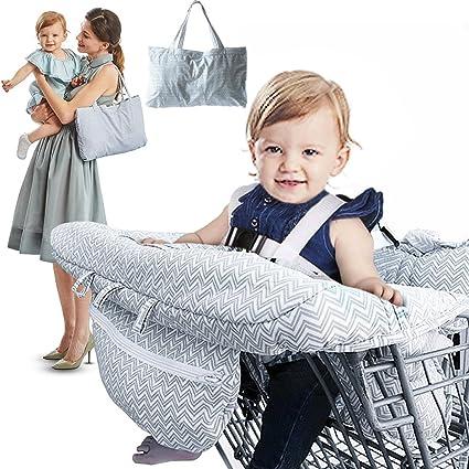 RUZINIU Carrito de compras para bebé Funda de cojín ...