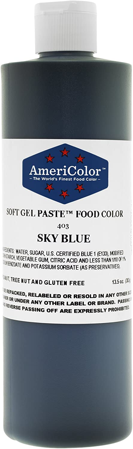 SKY BLUE 13.5 Ounce Soft Gel Paste Food Color