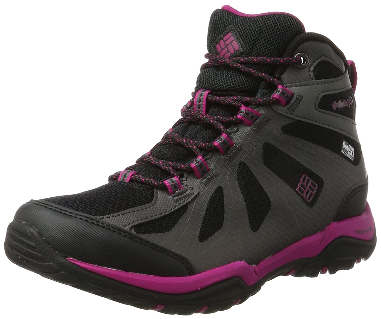 Columbia Damen Peakfreak XCRSN Ii Xcel Mid Outdry Trekking-& Wanderstiefel, schwarz rot Canyon
