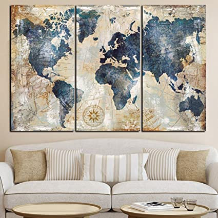 Buy bfeplfashion 3pcsset world map wall art paintings no frame home bfeplfashion 3pcsset world map wall art paintings no frame home living room decoration gift gumiabroncs Images