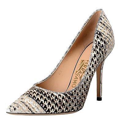 915a82745cd4 Salvatore Ferragamo Susi Patch High Heel Pumps Shoes US 10 IT 40 ...