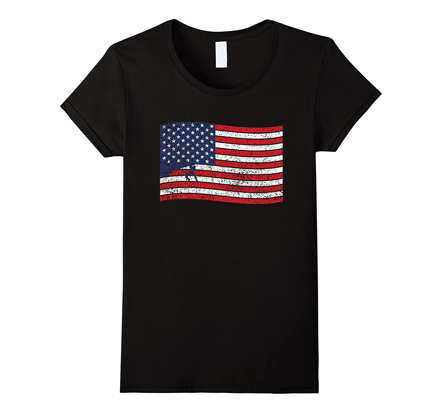 Rock Climbing Flag Shirt