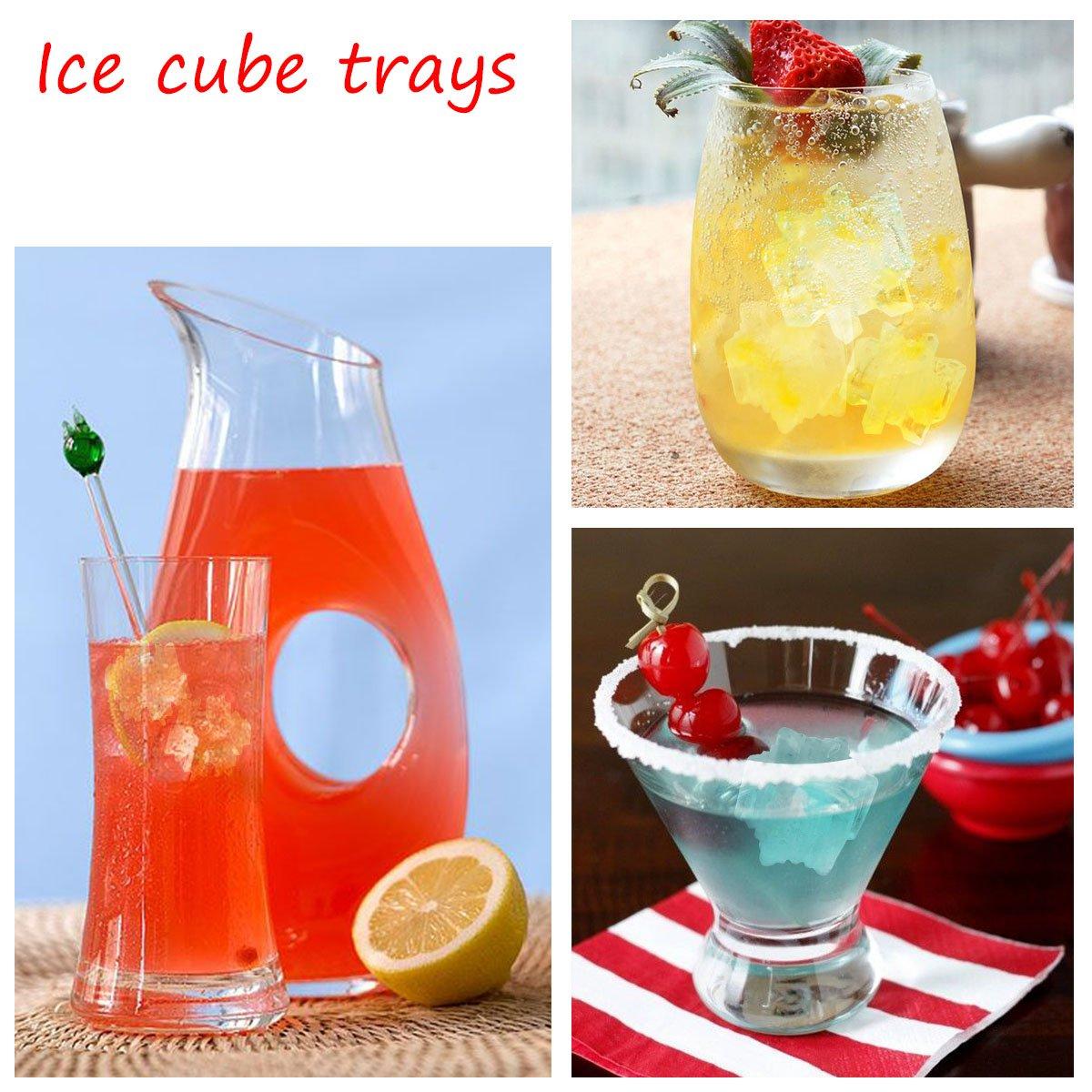 flocon de neige Silicone moule /à gla/çon 2 Silicone Ice Cube plateaux Set de moule de No/ël de bonbons de chocolat ou de Soap