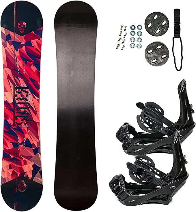 System 2019 MTN Snowboard with Summit Bindings Mens Snowboard Package/…