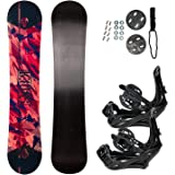 STAUBER Summit Snowboard & Binding Package Size 128, 133, 138, 143, 148,153,158,161- Best All-Terrain, Twin Directional…