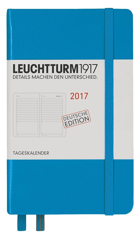 Leuchtturm1917 348189 Tageskalender 12 Monate Pocket A6 2017, azur ...