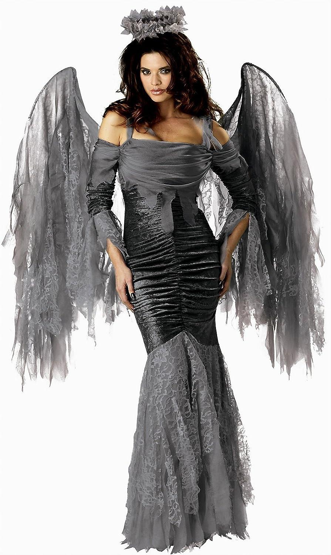 InCharacter Elite Collection Adultos Disfraz de ángel caído - Gris ...