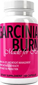 GARCINIA BURN Made for Her Garcinia Cambogia Extract with 50% HCA, 60 Capsules | Non GMO, Gluten and Gelatin Free - Best Weight Loss Supplement, Natural Appetite Suppressant, Carb Blocker & Fat Burner
