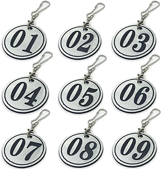 Gym Office Engraved Gold and Silver Key Fobs Hotels School