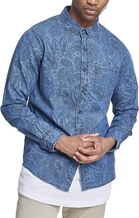 Urban Classics Printed Paisley Denim Shirt Camisa Vaquera para Hombre: Amazon.es: Ropa y accesorios
