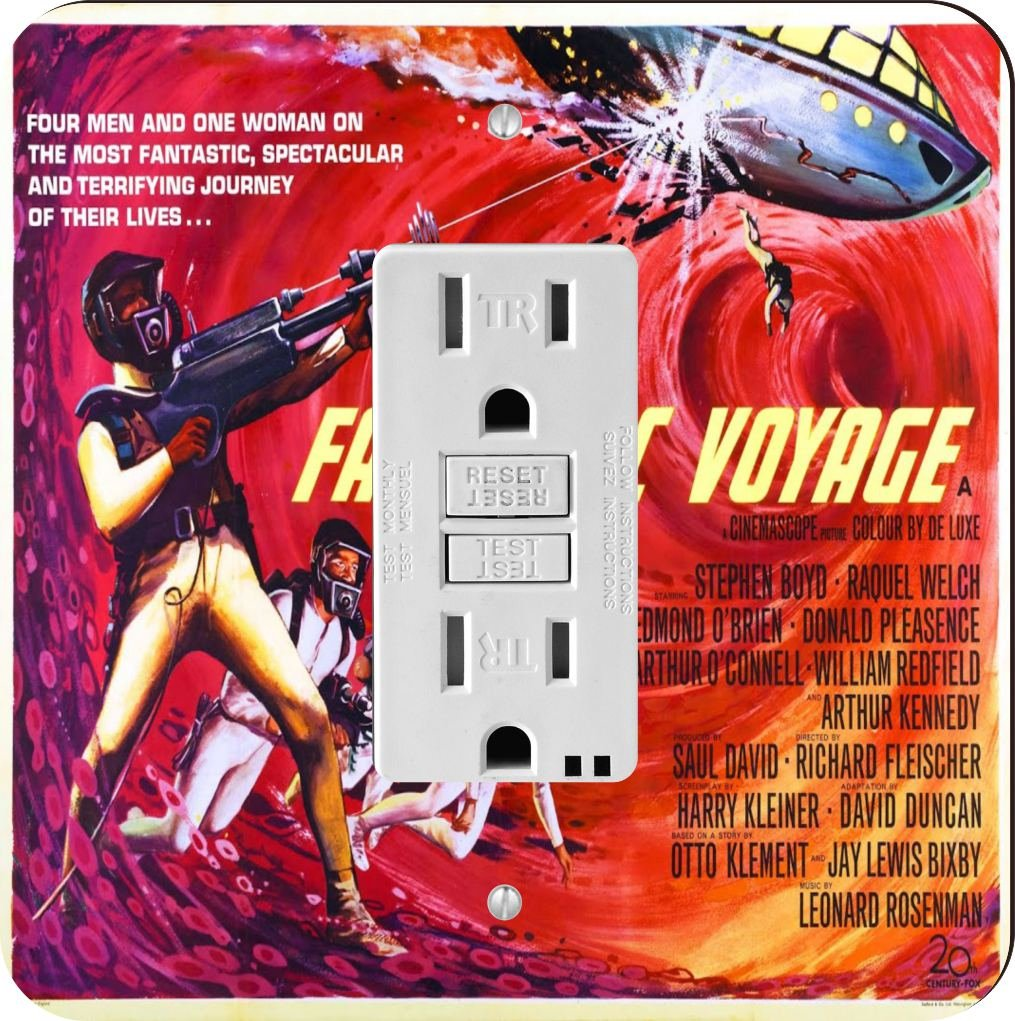 Rikki Knight 3709 Vintage Movie Posters Art Fantastic Voyage 4 Design Light Switch Plate