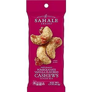 Sahale Snacks Pomegranate Vanilla Flavored Cashews Glazed Mix, 1.5 Ounces (Pack of 9)