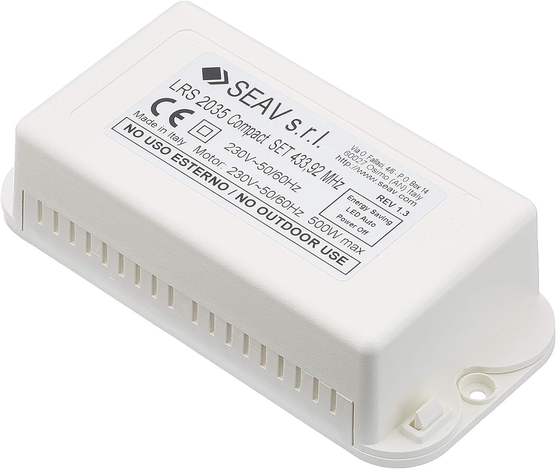 Seav LRS 2035 - Centralita electrónica compacta para Puertas basculantes y persianas enrollables