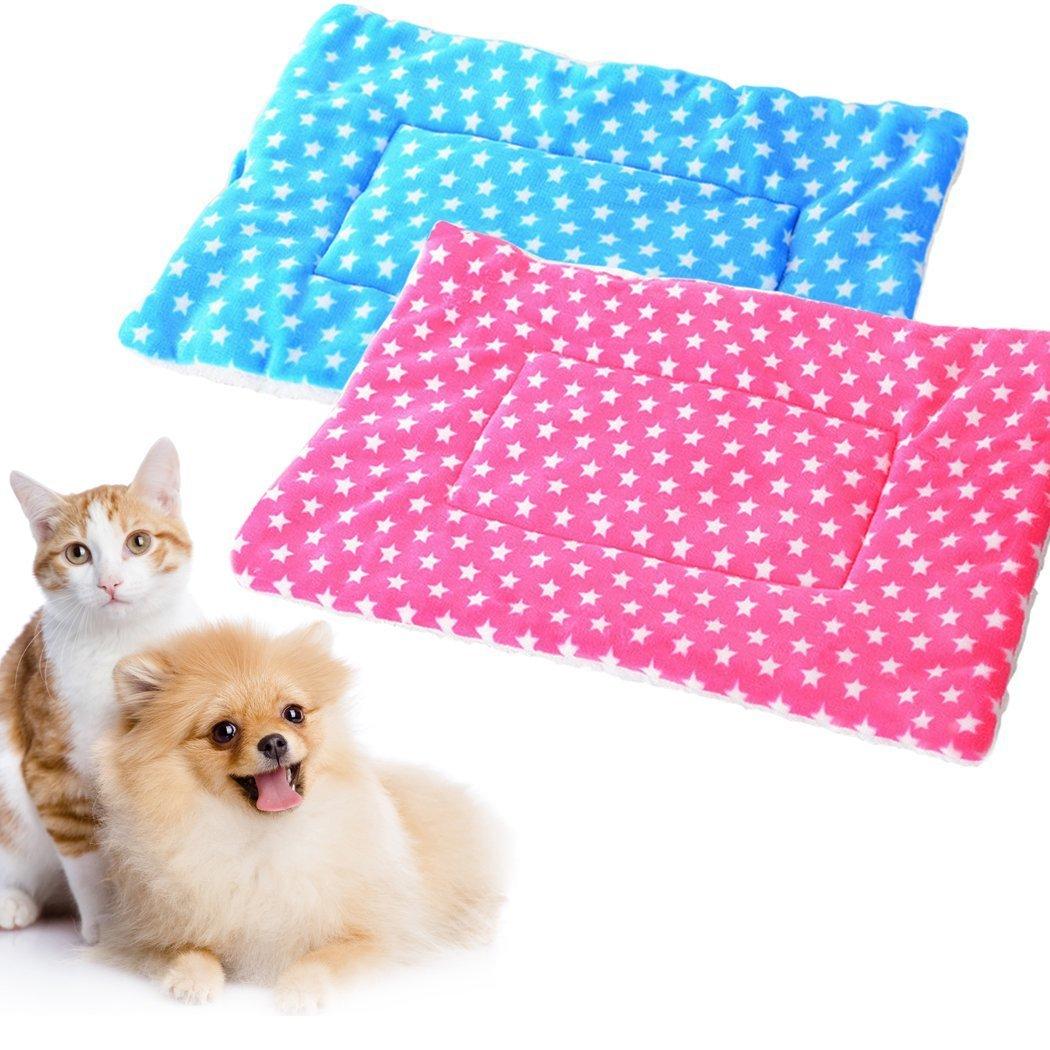 Xinjiener 2pcs cuscino del letto del cane stuoia del canguro extra morbido carino modello pet mat mat pet supplies for dog cat