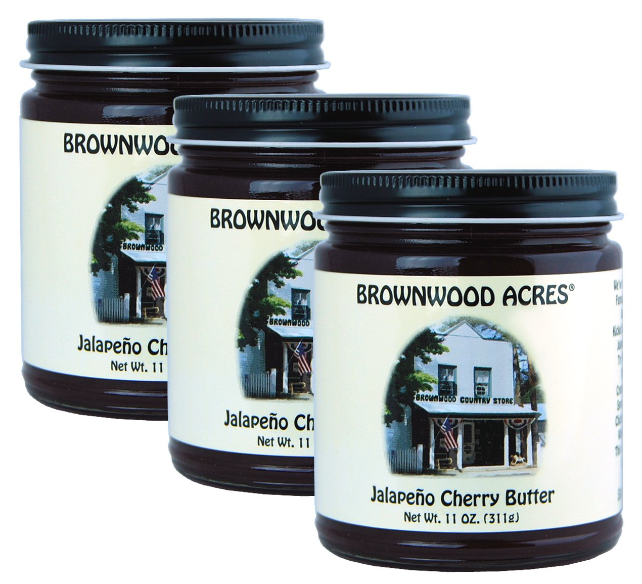 Brownwood Acres Jalapeno Cherry Butter - 3 PACK - Shipping Included by Brownwood Acres