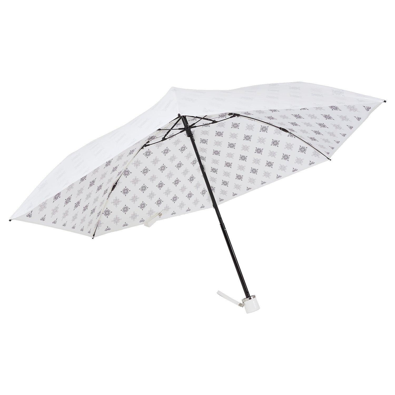 UVION ユヴィオン 晴雨兼用 軽量 折り畳み傘 日傘 プレミアムホワイト 50cm [ニューアラベスク 6本骨] 雨傘 UVケア 遮熱 B07C7TPZCXブラック