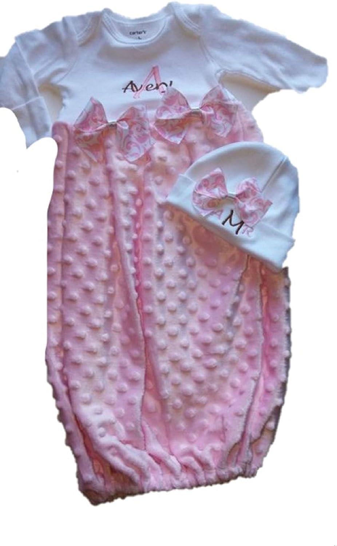 Personalized Baby Gift Newborn Girl Monogrammed Outfit Newborn Personalized Coming Home Outfit
