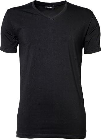 TJ401 Herren Stretch T-Shirt V-Neck Fashion Shirt - 2er Pack, Farbe