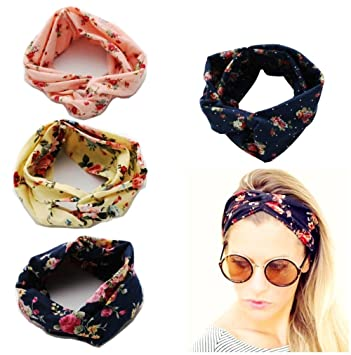 9c4e04621088a9 JZK 4 x Super weiche elastische Yoga Stirnbänder Frauen Stirnband Mädchen Haarband  Damen Headband Jugendliche Bänder