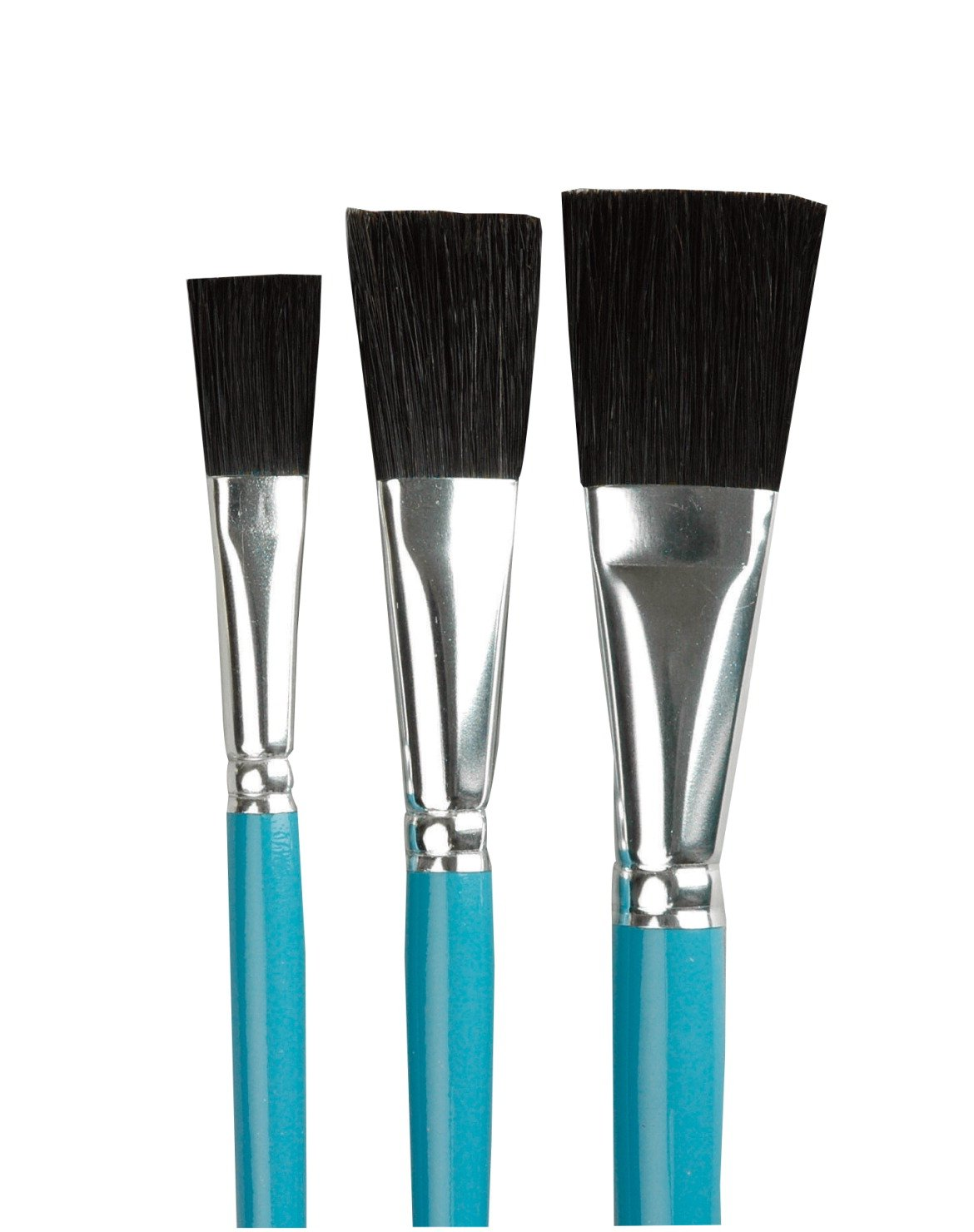 Sax True Flow Black China Bristle Brush includes 1 each of 1/2'', 3/4'', and 1'' Size Brush (Set of 3)