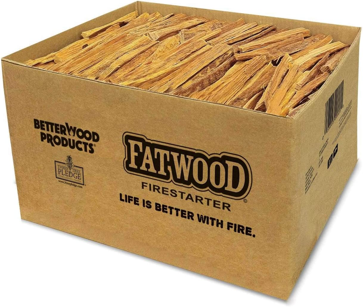 Better Wood Products Fatwood Firestarter Box, 25-Pounds 71NxLl6YYQL