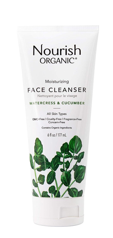 Nourish Organic Moisturizing Face Cleanser, Watercress & Cucumber, 6 Ounce