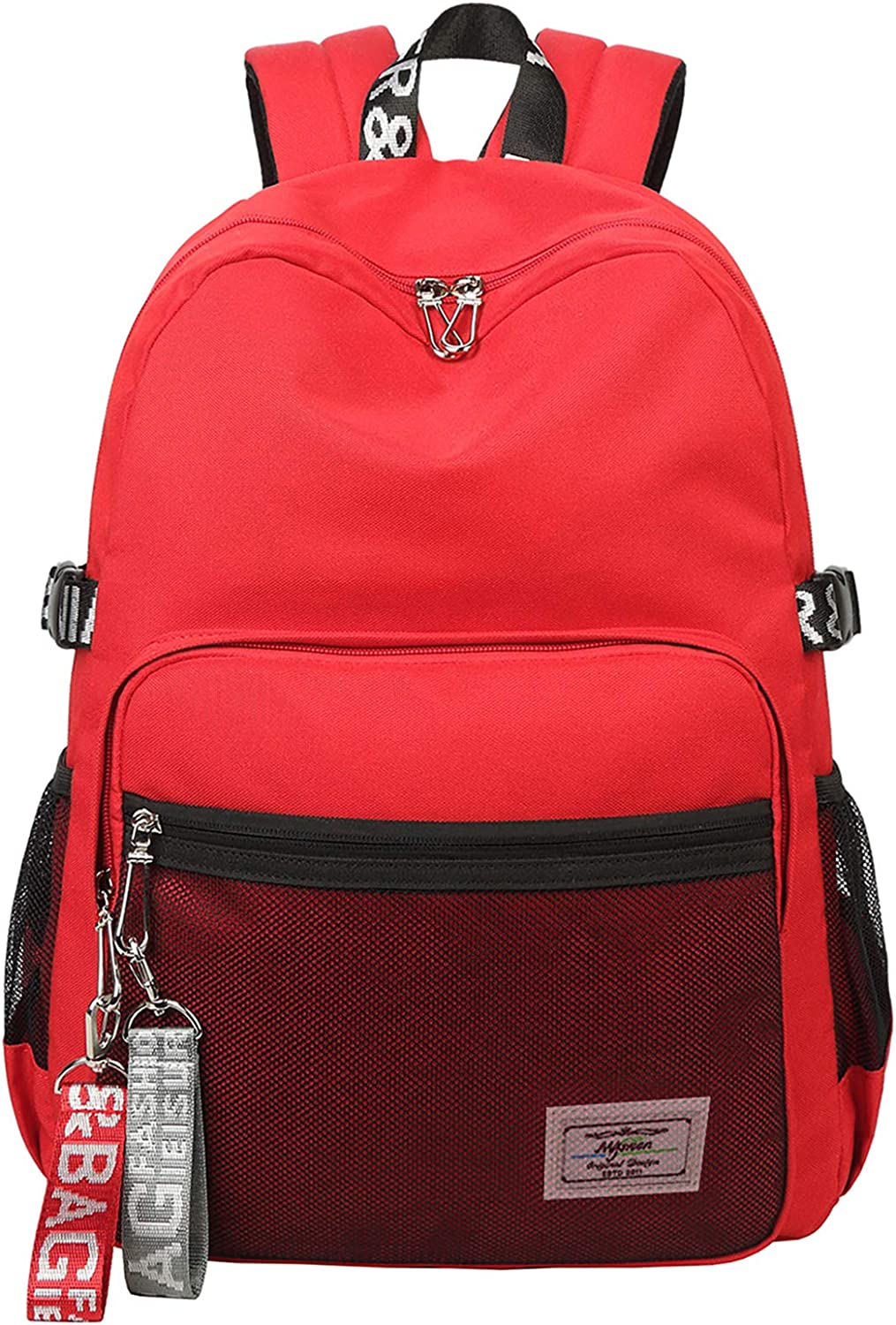 El-fmly Cute Backpack for Teen Girls Lightweight Casual Fashion Shoulder School Bookbag Travel Outdoor Laptop Daypack Red Bag