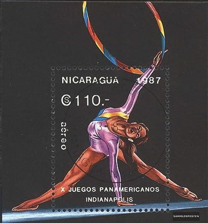 Amazon.com: Nicaragua block174 (complete.issue.) 1987 Pan ...