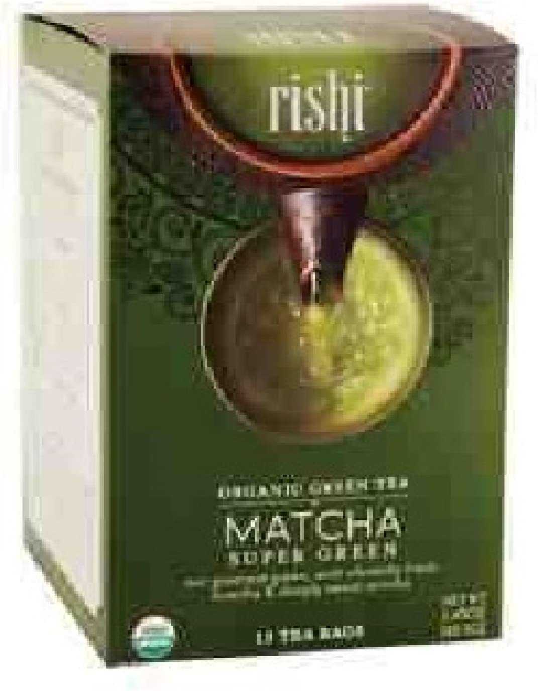 Rishi Tea Organic Super Green Tea Matcha - 15 Tea Bags