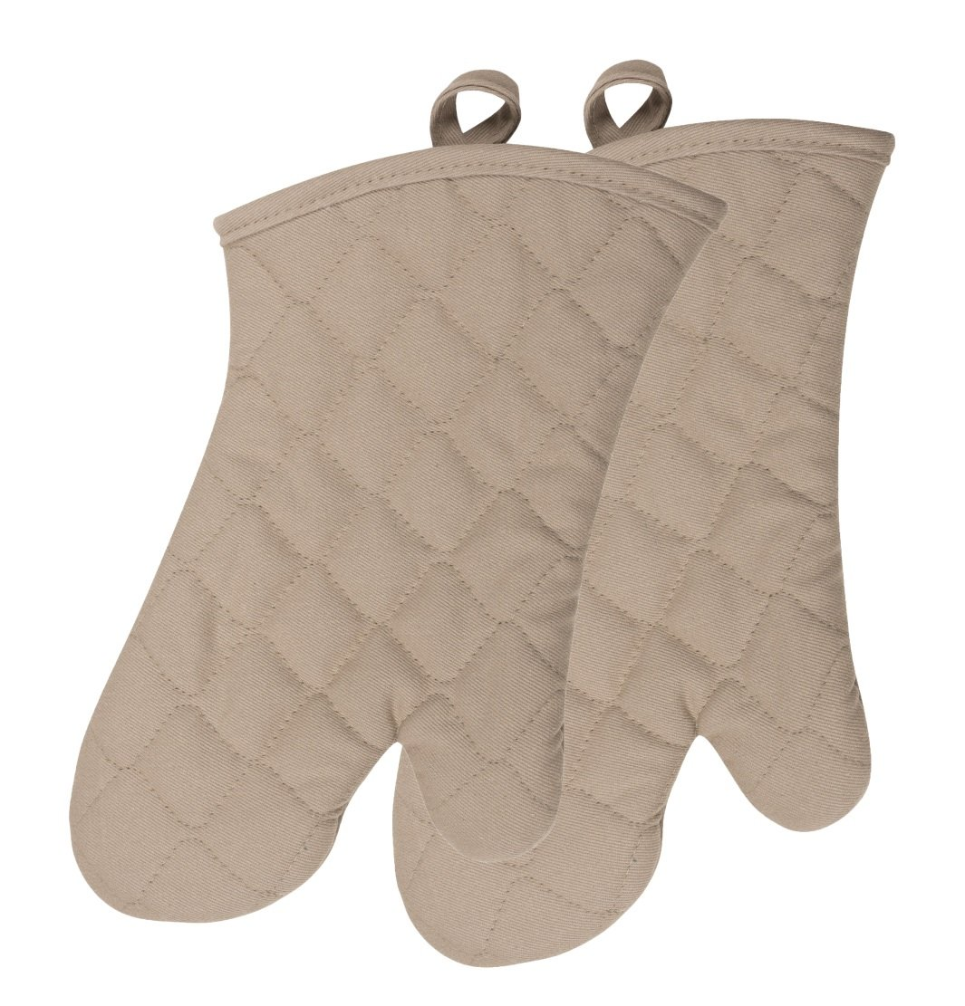 KAF Home Chef's Oven Mitts, One Size, Taupe 2