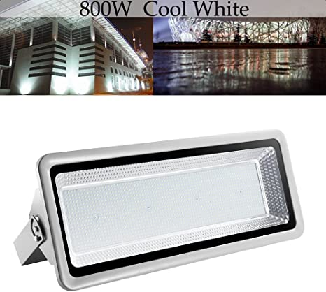 800W LED Flood Light Cool Warm White Outdoor Spotlight Security Garden Yard Lamp