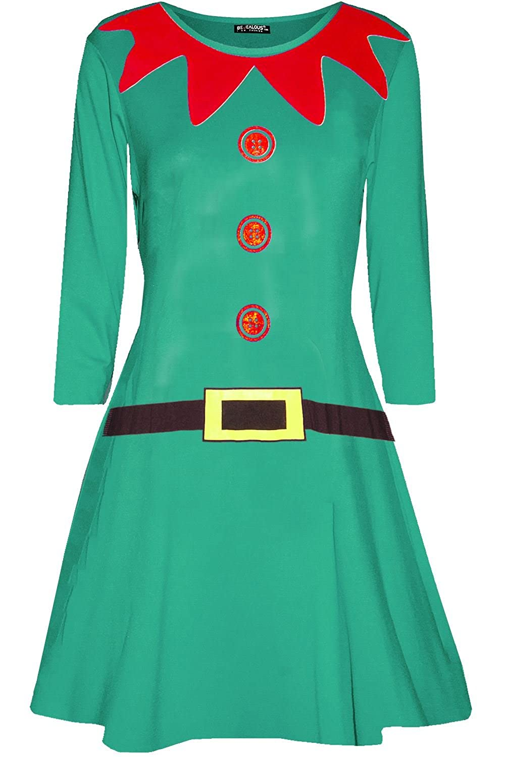7defe23c19aa6 Amazon.com: Be Jealous Women Xmas Elf Santa's Little Helper Costume ...
