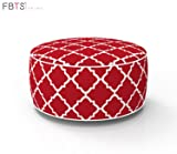 FBTS Prime Outdoor Inflatable Ottoman Red Round