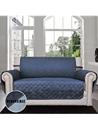 Sofa Covers, Slipcovers, Reversible Quilted Furniture Protector, Improved  Anti Slip Cover With