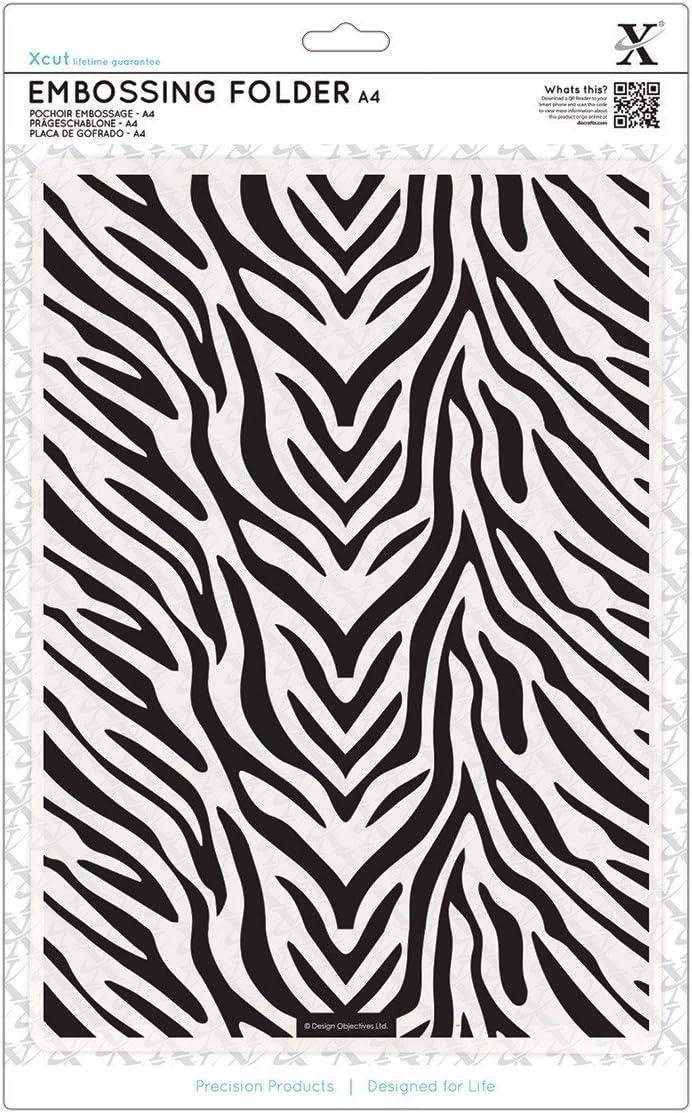 Docrafts Zebra Print A4-Pr/ägeschablone