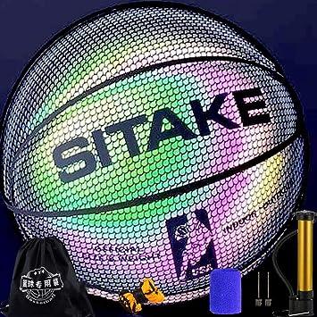 Baloncesto luminoso, juego de noche reflectante súper brillante ...