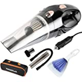 Upgraded Version One Carry Bag 2 HEPA Filters GPISEN Car Vacuum Cleaner DC 12-Volt 106W 4500PA Suction Wet&Dry Handheld Auto Vacuum Cleaner Black