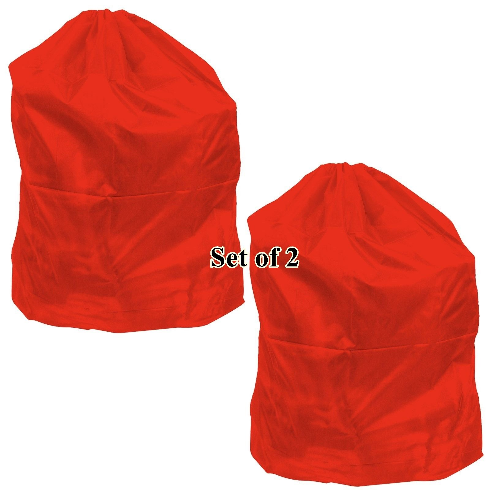 Shop-24 Laundry Hamper 2pcs Heavy Duty Jumbo Nylon Bag For Cloth Washable Up To 40 Lb