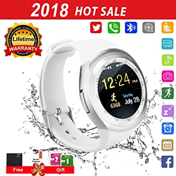 Reloj Inteligente, Smartwatch con SIM/TF Ranura Cámara Reproductor de música Fitness Tracker Facebook