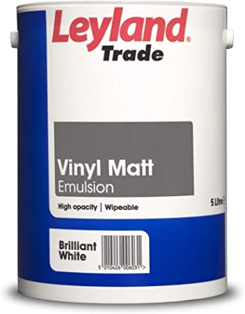 Leyland Trade Vinyl Matt, Brilliant White, 5 Litre